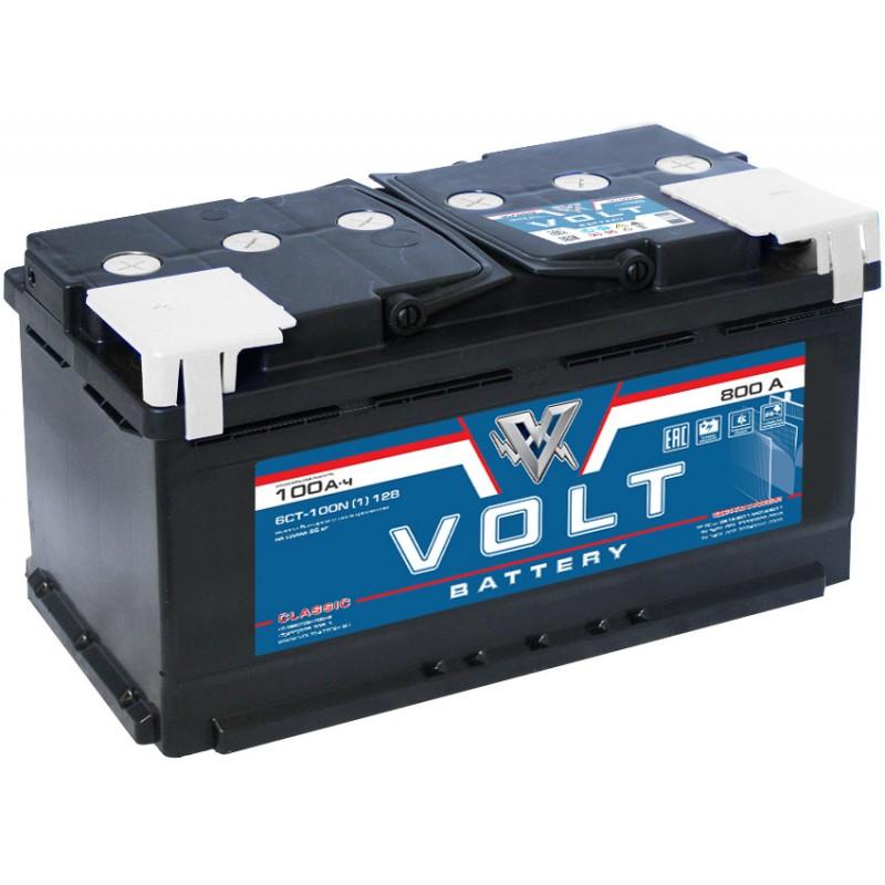 Автомобильный аккумулятор VOLT Classic 6CT- 100N  100 Ач (A/h) прямая полярность - VC10011