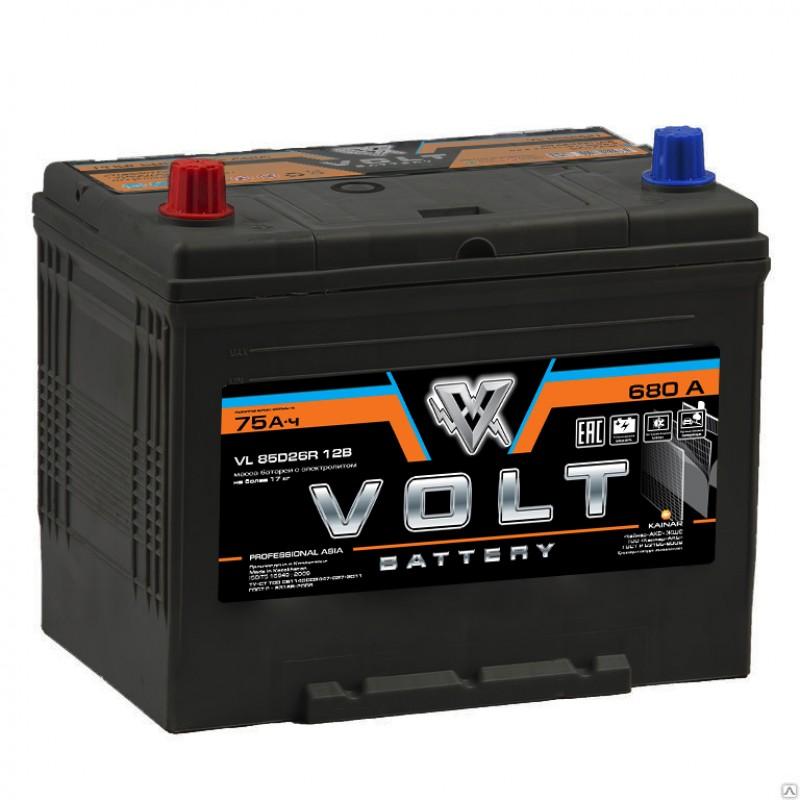 Автомобильный аккумулятор VOLT PRO ASIA  75 Ач (A/h) прямая полярность - VL85D26R