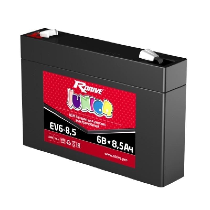 Аккумулятор RDRIVE JUNIOR EV6-8.5 8.5Ач 6В  прямая полярность (1)