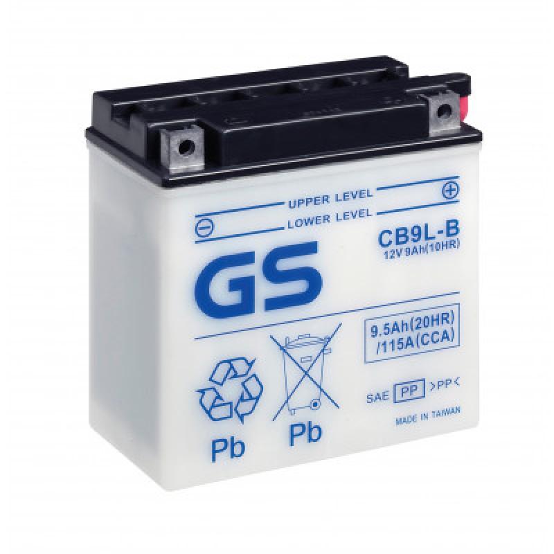Аккумулятор GS YUASA GS CB9L-B 9Ач 12В 115А прямая полярность (1)